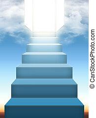 céu, escadas