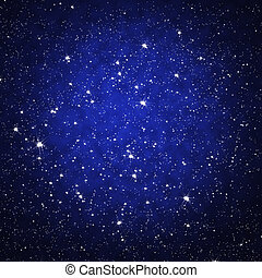 céu, estrela, noturna