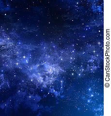 céu estrelado, espaço aberto