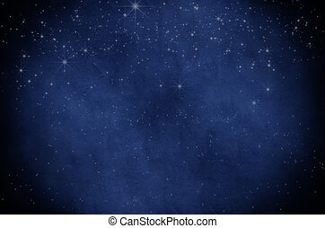 céu estrelado, fundo, noturna