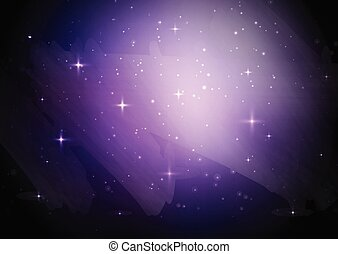 céu estrelado, galáxia, fundo