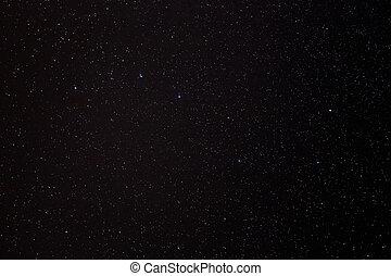 céu, estrelas, fundo, noturna
