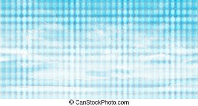 céu, ilustração, fundo