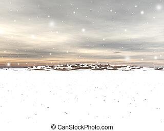 céu, neve