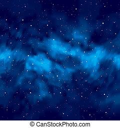 céu noite, com, estrelas