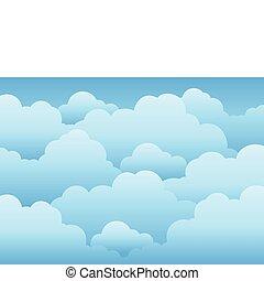 céu nublado, fundo, 1