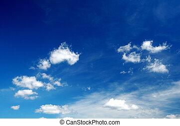 céu, nublado, fundo
