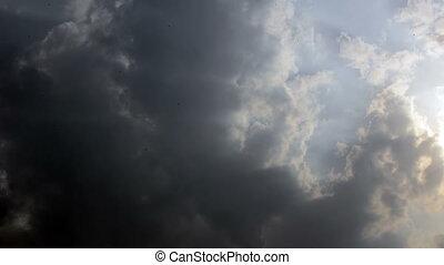 céu nublado, lapso tempo
