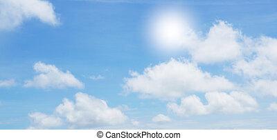céu, nuvens, 3d-illustration