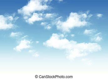céu, nuvens, azul