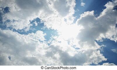 céu, nuvens, lapso tempo, 4k