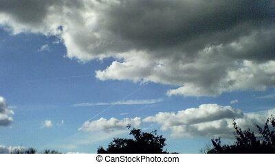 céu, nuvens timelapse