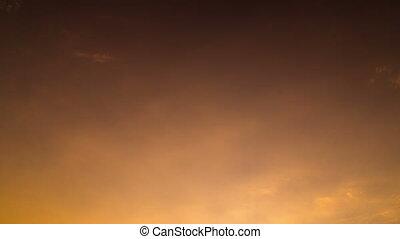 céu, nuvens timelapse, pôr do sol