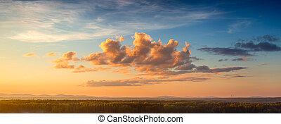 céu ocaso