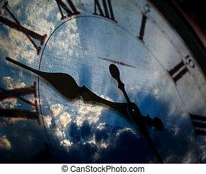 céu, relógio