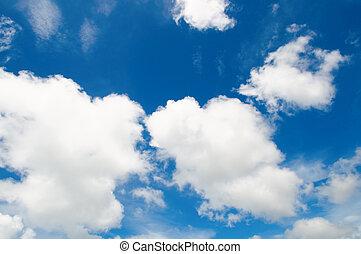 céu, semelhante, nublado, algodão