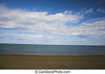 céu, sobre, oceano ártico