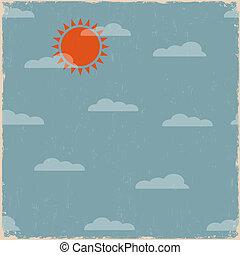 céu, sol, nuvens