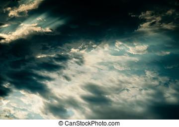 céu tempestuoso