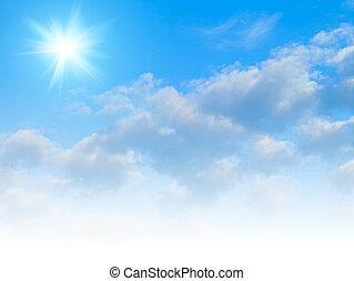 céus azuis, abstratos, ambiental, fundos, para, seu, desenho
