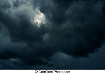 céus escuros