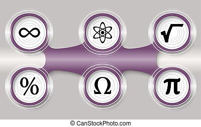cíl, ikona, nach, šest, ponurý, matematika, kruhovitý