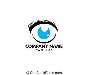cílio, logotipo, extensão