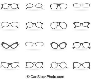 címez, különböző, szemüveg