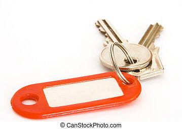 címke, és, kulcsok