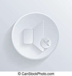 círculo, ícone, com, um, shadow., alto-falante