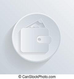 círculo, ícone, com, um, shadow., bolsa