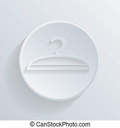 círculo, ícone, com, um, shadow., cabide