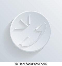 círculo, ícone, com, um, shadow., chamada