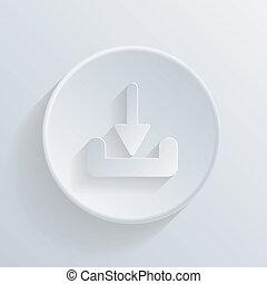 círculo, ícone, com, um, shadow., download