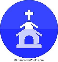 círculo, ícone, -, igreja