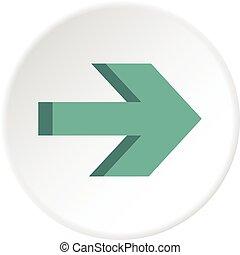 círculo, ícone seta
