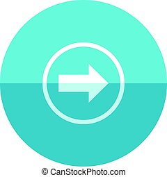 círculo, -, ícone seta