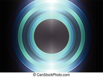 círculo, abstratos, fundo, onda