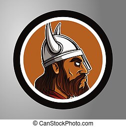 círculo, adesivo, vikings
