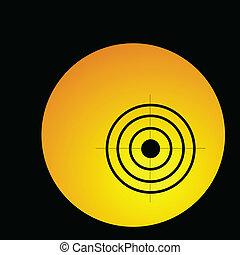 círculo, alvo, ilustração