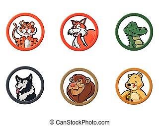 círculo, animal, carnivora
