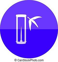 círculo, -, bambu, ícone