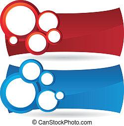 círculo, bandeiras