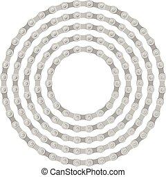 círculo, bicicleta, cadena