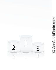 círculo blanco, ganador, podio, blanco