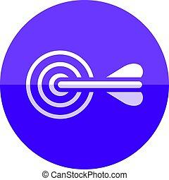círculo, -, bullseye, ícone seta