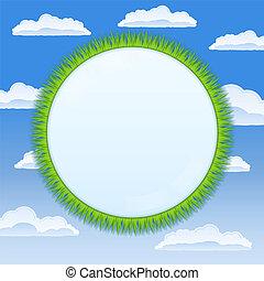 círculo, capim