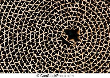 círculo, cartón