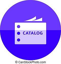 círculo, -, catálogo, ícone