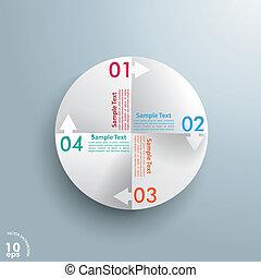 círculo, ciclo, con, flechas